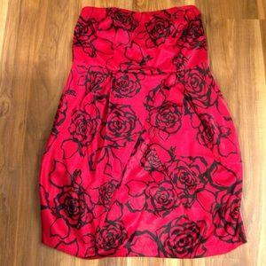 Torrid strapless rose print dress